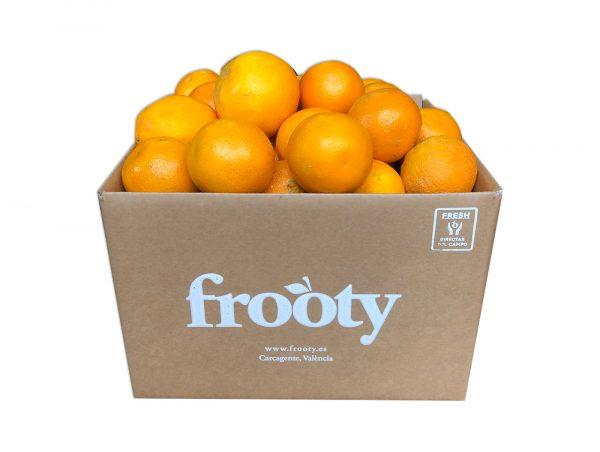 Cesta ecológica de naranjas perales