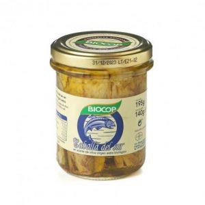 Caballa del sur en aceite de oliva virgen extra biológico Biocop