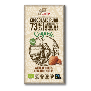chocolate pura 73% almendras online supermercado ecologico barcelona frooty