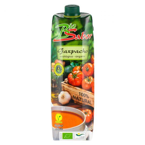 Gazpacho ecológico de tomates 100% natural BioSabor