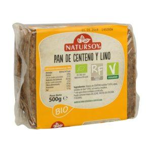 Pan de centeno y lino Natursoy