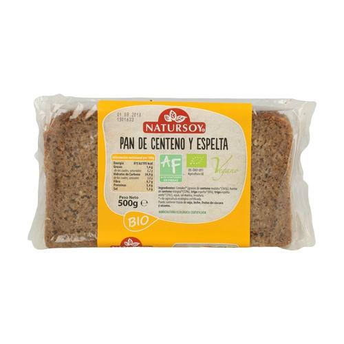 Pan de centeno y espelta Natursoy sin gluten