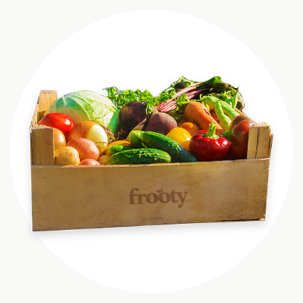 Caja de suscripción de frutas variadas y ecológicas de Frooty