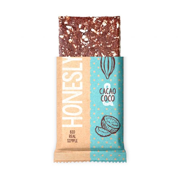 comprar Barrita de chocolate de cacao y coco Bio Honestly online supermercado ecologico bio en barcelona frooty