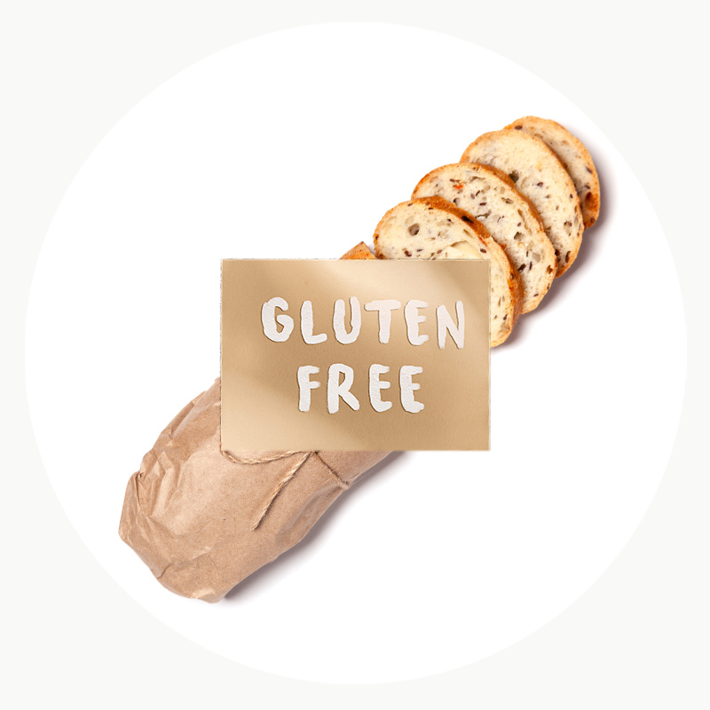 Barra de pan sin gluten y natural