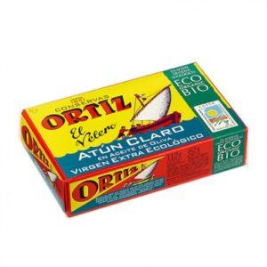 comprar Atún Claro en conserva en aceite de oliva virgen extra ecológico Ortiz online supermercado ecologico barcelona frooty