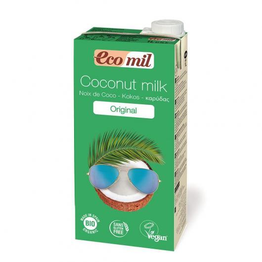 Leche de coco original, vegana y bio sin azucares