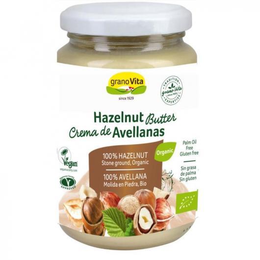 Crema de avellanas bio GranoVita hecha al 100% con avellana