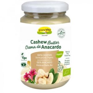 Crema de anacardo bio GranoVita hecha al 100% con anacardos