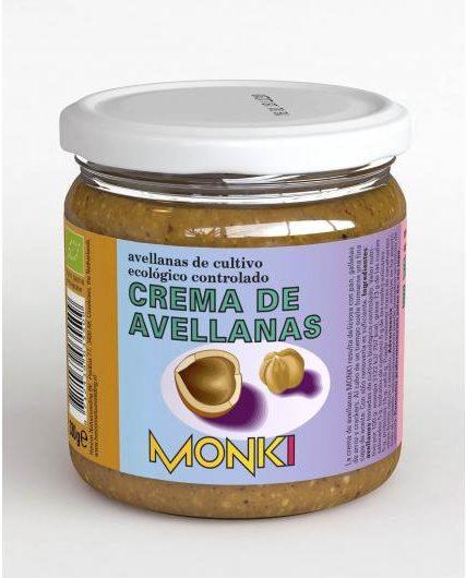 Crema de avellanas de cultivo ecológico controlado Monki