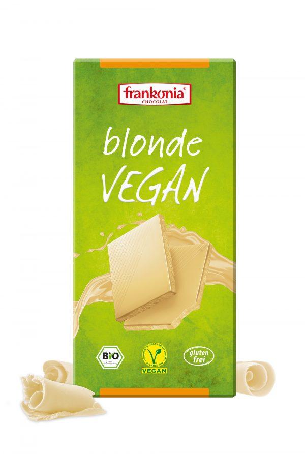 Tableta de chocolate blanco vegano de Frankonia