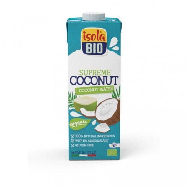 Agua de coco 100% natural de Isola Bio