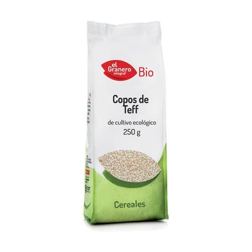 Copos de teff procedentes de cultivo ecológico El Granero, 250 gramos
