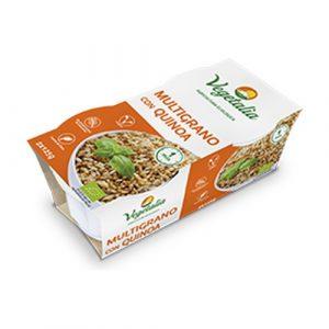Vasitos de arroz de multigrano con quinoa de Vegetalia