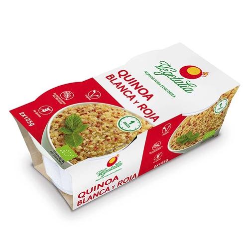 Vasitos de quinoa blanca y roja de Vegetalia