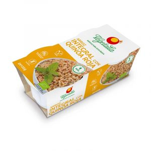 Vasitos de arroz integral con quinoa roja de agricultura ecológica de Vegeralia