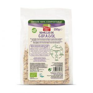 Semillas de girasol en envase 100% compostable