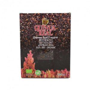 Quinoa real negra totalmente ecológica, biológica y orgánica, 500g