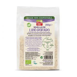 Semillas de lino dorado en envase 100% compostable