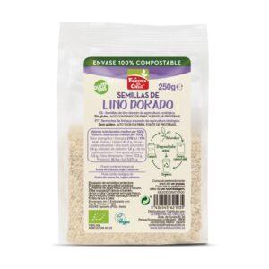 comprar Semillas de lino dorado en envase 100% compostable online supermercado ecologico barcelona frooty