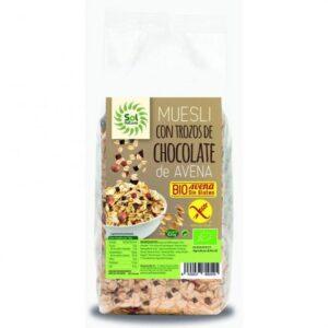 comprar Muesli de avena y trozos de chocolate Bio y sin gluten, Sol Natural online supermercado ecologico barcelona frooty