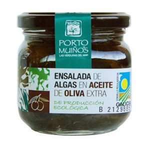 Ensalada de algas en aceite de oliva extra, de producción totalmente ecológica, Porto Muiños