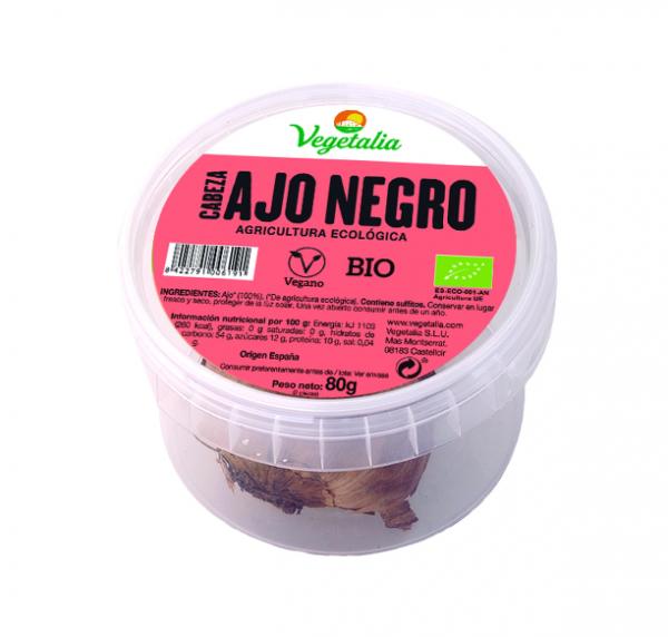 comprar Cabeza de ajo negro procedente de agricultura ecológica Vegetalia, 80g online supermercado ecologico barcelona frooty