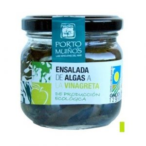 Ensalada de algas a la vinagreta procedente de producción ecológica Porto Muiños