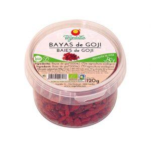Bayas de Goji Bio en tarrina de Vegetalia, 120 gramos