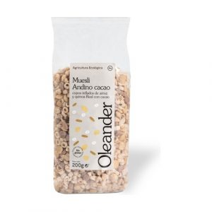 Muesli de copos inflados de arroz y quinoa real con cacao sin gluten
