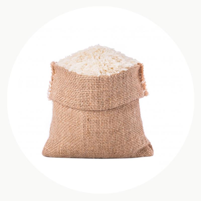 Bolsa de saco con arroz ecológico