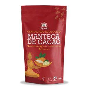 Manteca de cacao Iswari con certificado ecológico y sin azucares