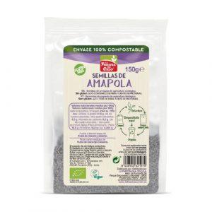 Semillas de amapola en envase 100% compostable