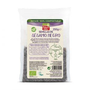 Semillas de sésamo negro envase 100% compostable