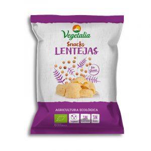 Snack de lentejas procedente de agricultura ecológica, 100% vegano