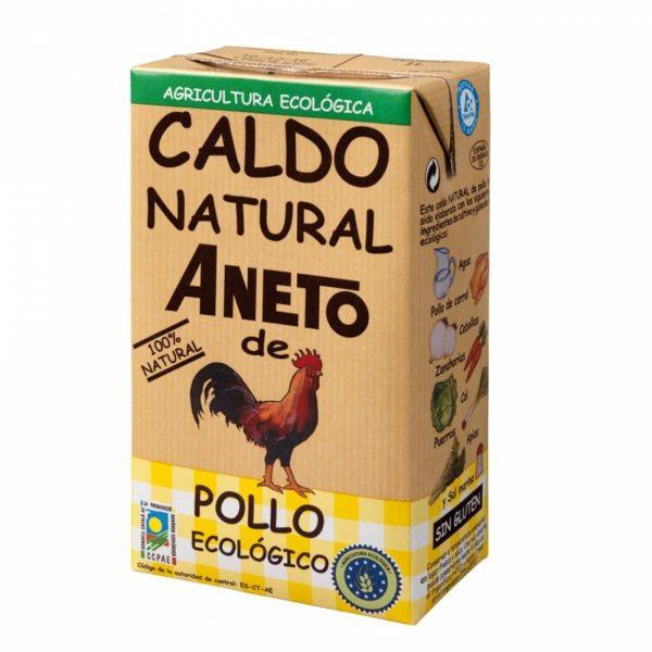 comprar Caldo natural de pollo aneto 100% ecológico online supermercado ecologico de barcelona frooty