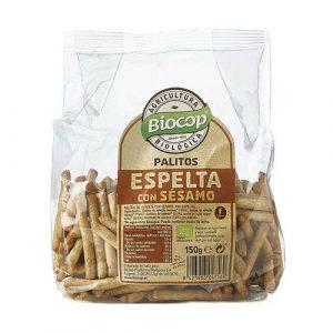 comprar Palitos de espelta con sésamo procedentes de la agricultura biológica Biocop, 150g online supermercado ecologico barcelona frooty