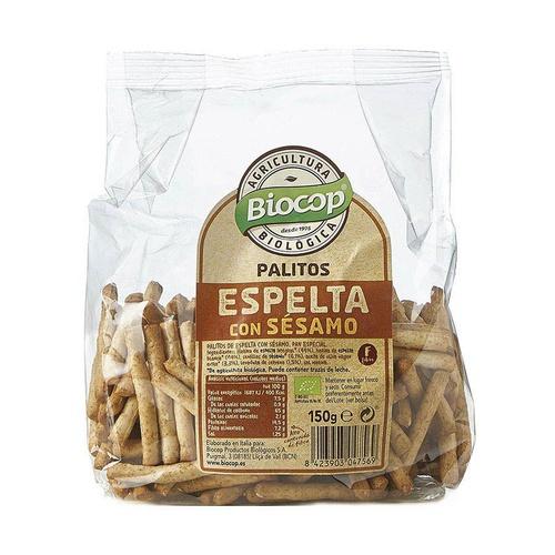 Palitos de espelta con sésamo procedentes de la agricultura biológica Biocop, 150g