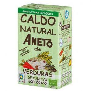 Caldo natural Aneto de verduras de cultivo ecológico