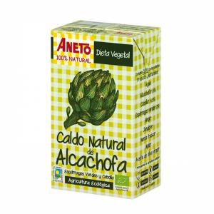Caldo natural de alcachofa de Aneto procedente de agricultura ecológica
