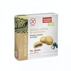 Galletas sin gluten rellenas de arandanos bio