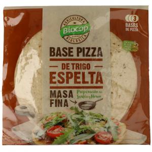 Base de masa fina de pizza de trigo de espelta Biocop, procedente de agricultura ecológica