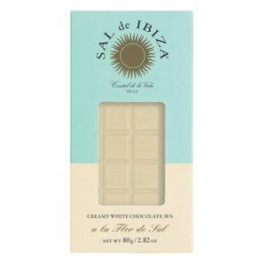 comprar Chocolate Blanco 38%, 80g Sal de Ibiza online supermercado ecologico barcelona frooty