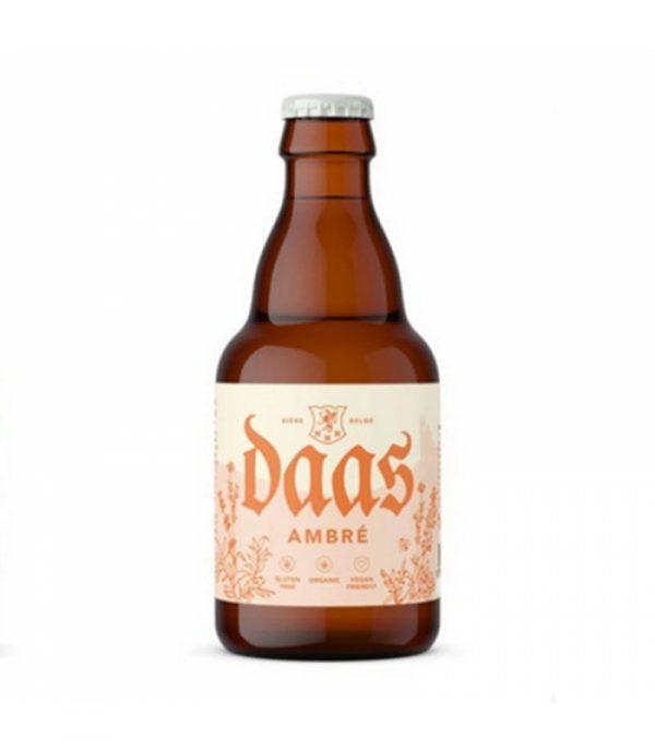 Cerveza Daas Ambré Ecológica con aroma a caramelo