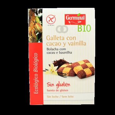 Galletas sin gluten de cacao con vainilla ecológicas