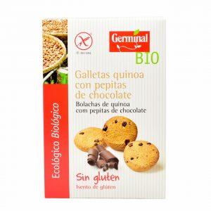 Galletas de quinoa con pepitas de chocolate sin gluten y bio, Germinal