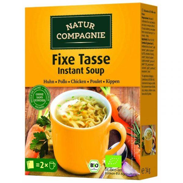 comprar Sopa instantánea de Pollo 100% Bio Natur Compagnie online supermercado ecologico de barcelona frooty