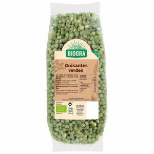 Guisantes verdes Biogra envasados al vacío