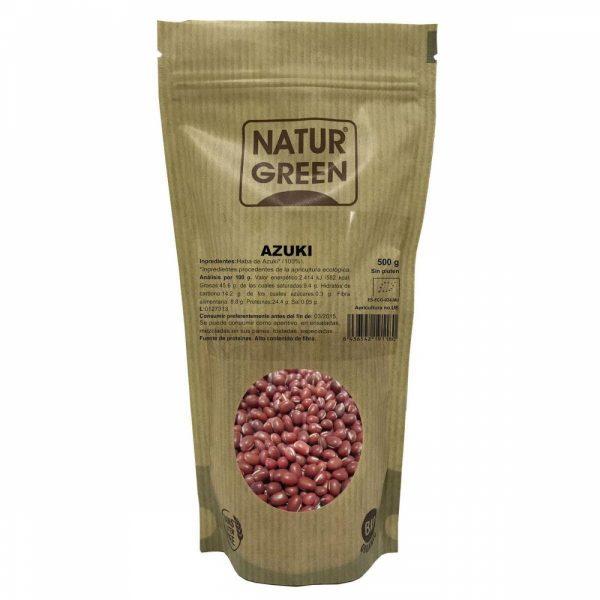 Azuki Ecológico Naturgreen procedente de la naturaleza ecológica, 100% vegano y sin gluten