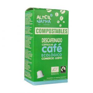 comprar Cápsula Compostable de Café Descafeinado Alter Nativa, 10x50g online supermercado ecologico bio en barcelona frooty